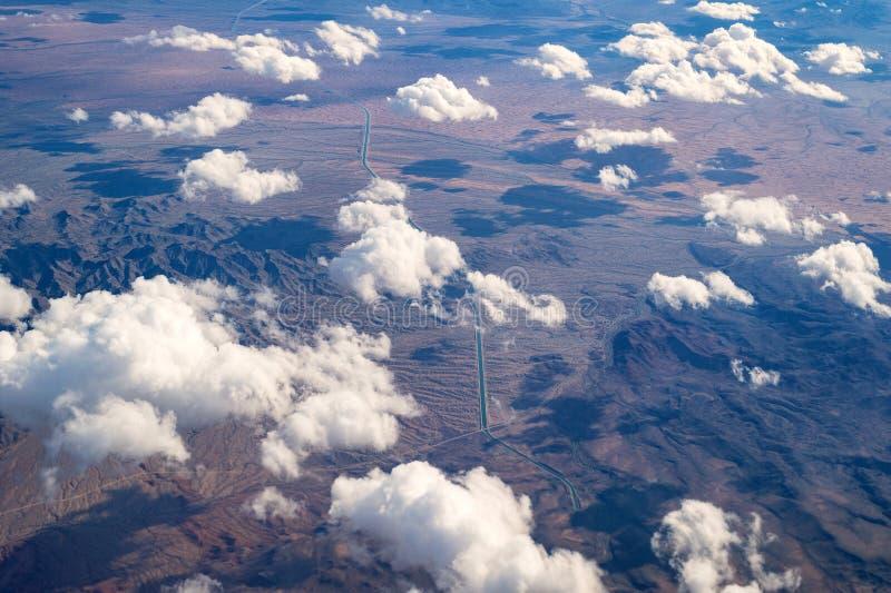 Centraal het Projectaquaduct van Arizona in het woestijnsatellietbeeld stock afbeelding
