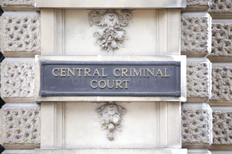 Centraal Misdadig Hof royalty-vrije stock afbeeldingen