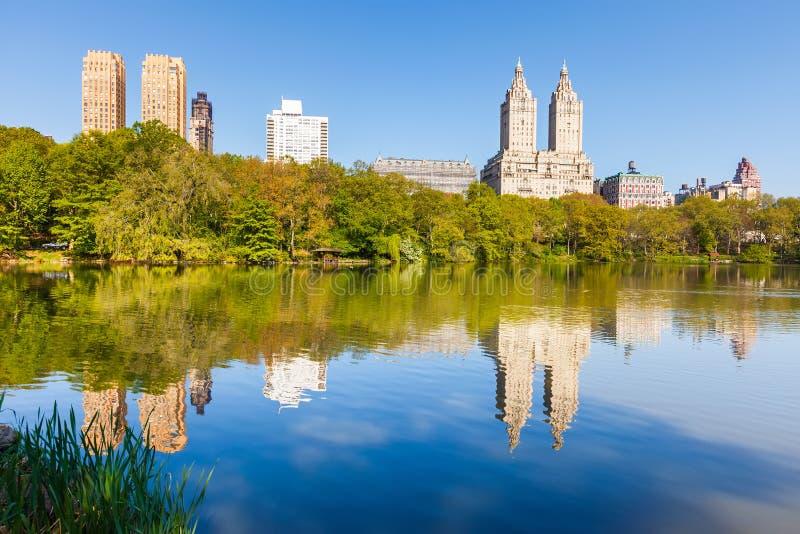 Centraal park bij zonnige dag royalty-vrije stock afbeeldingen