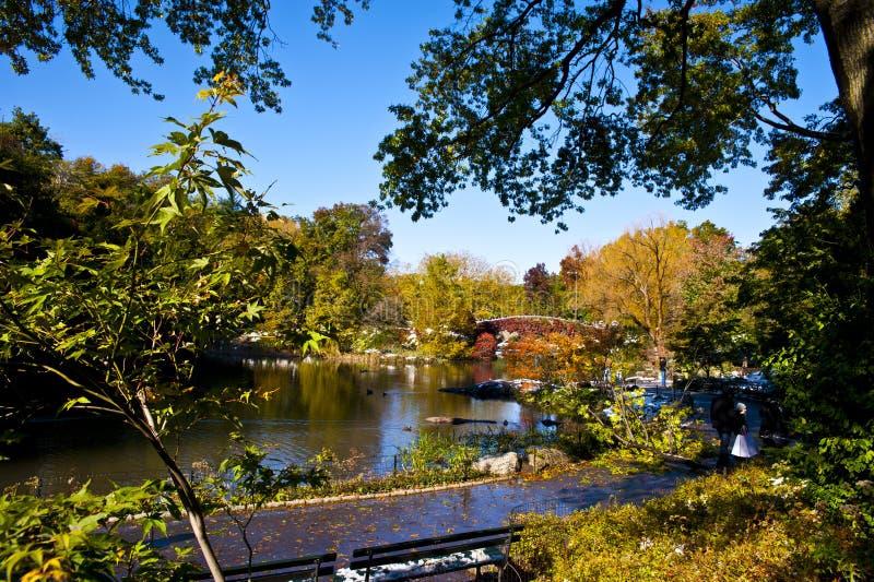 Centraal park in Oktober stock afbeelding
