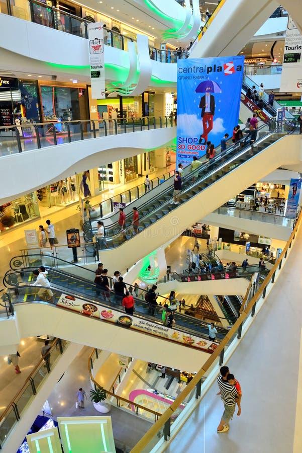 Centraal Plein Grote Rama IX stock afbeelding