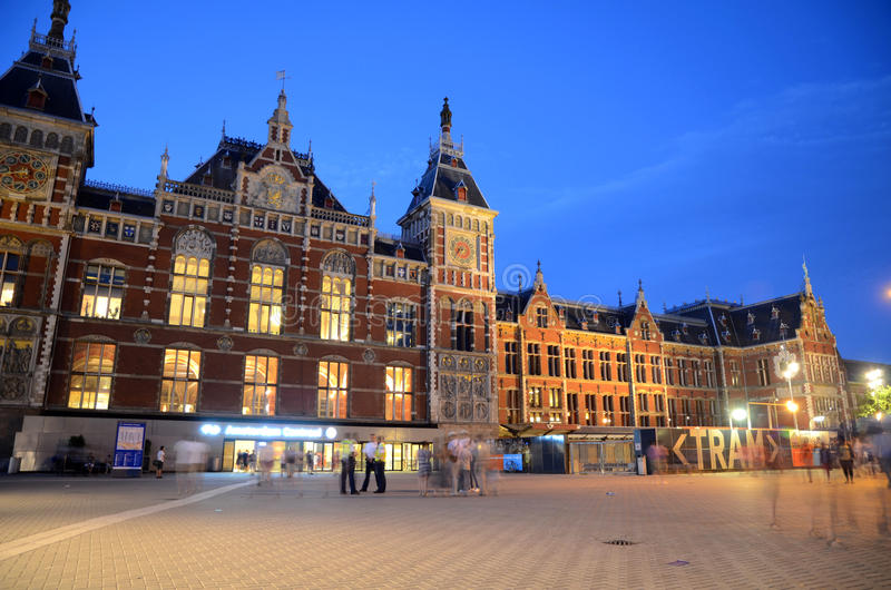 Centraal Station - Amsterdam, Nederland royalty-vrije stock foto