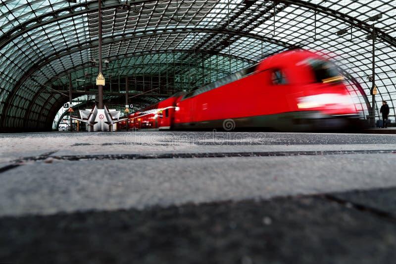 Centraal station in Berlijn, stock foto