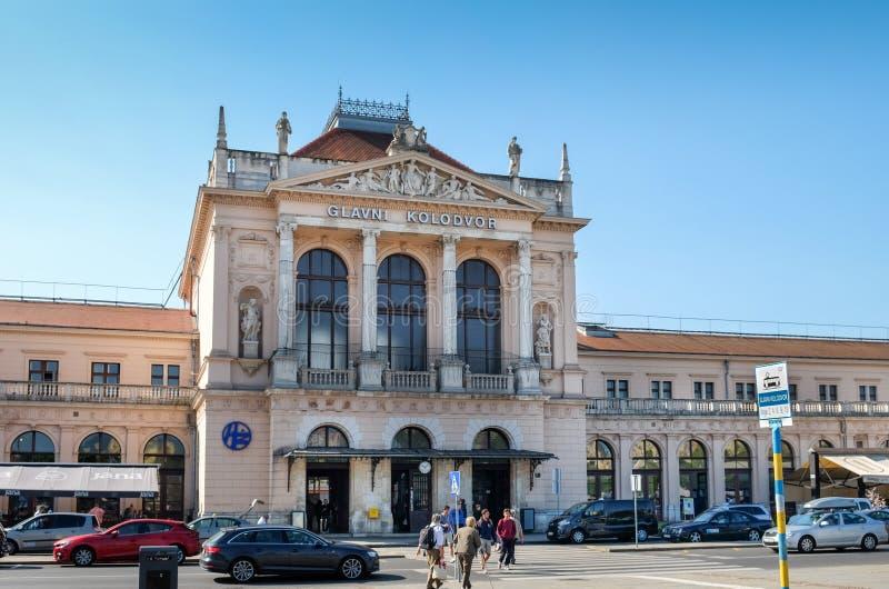 Centraal station van Zagreb, Kroatië royalty-vrije stock fotografie