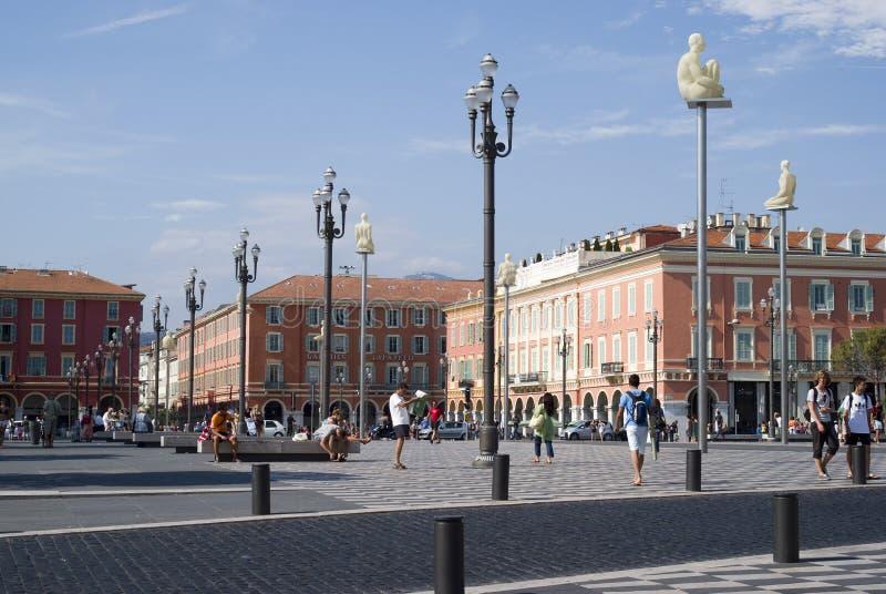 Centraal Vierkant in Nice, Frankrijk royalty-vrije stock afbeeldingen