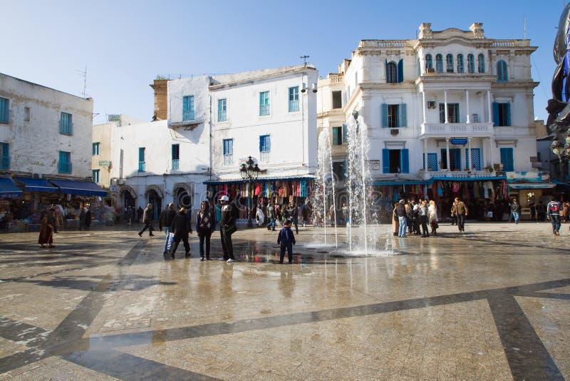 Centraal Vierkant in Tunis, Tunesië royalty-vrije stock afbeeldingen