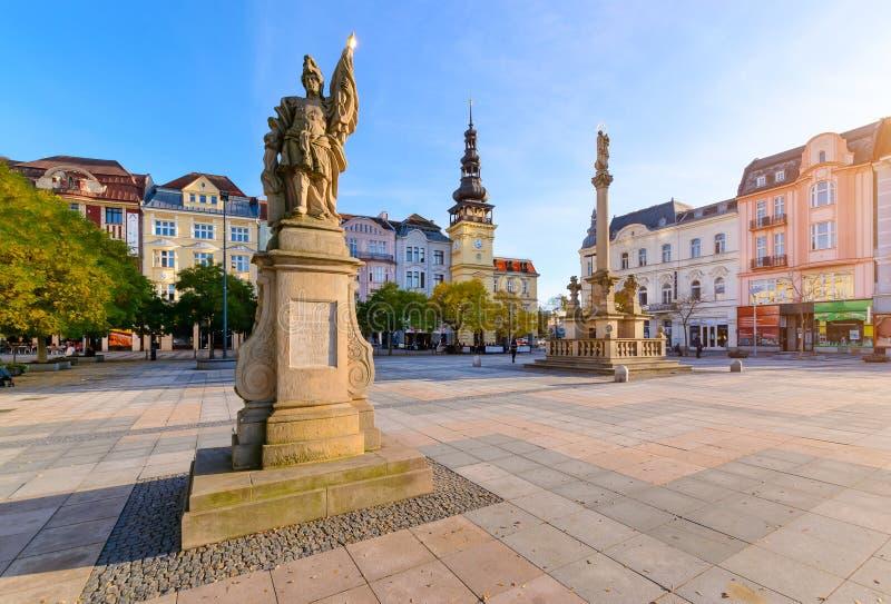 Centraal vierkant van de Tsjechische Republiek van Ostrava stock afbeelding