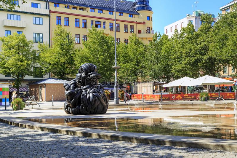 Centraal vierkant van Orebro, Zweden stock foto