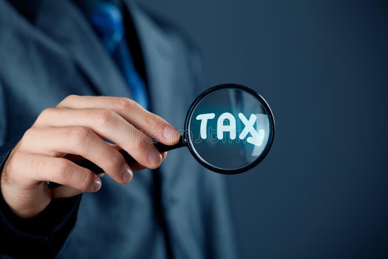 Centrado sobre o imposto imagem de stock