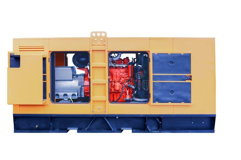 Centrais elétricas diesel móveis poderosas modernas imagens de stock royalty free