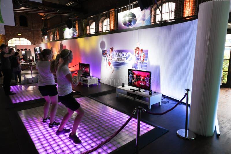 Central 2 da dança e Kinect fotos de stock royalty free