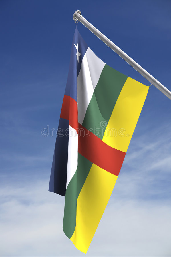 Central Africa flag royalty free stock images