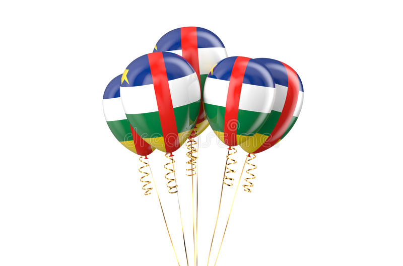 Central African Republic CAR patriotic balloons holyday concept. Central African Republic CAR patriotic balloons, holyday concept isolated on white background vector illustration