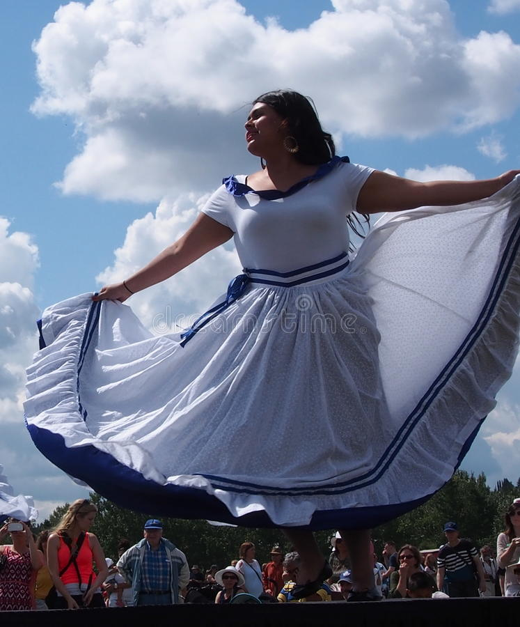 Central American Dancers At Edmontons Heritage Day. S 2013 stock images