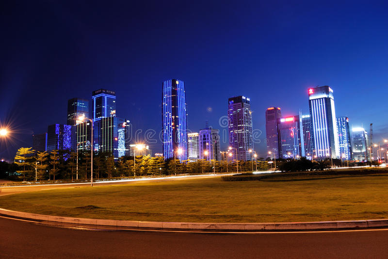 The central area of Shenzhen stock images
