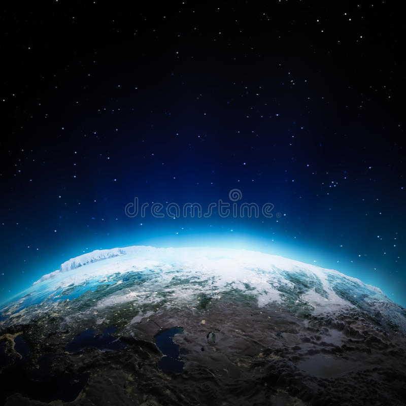 Download Central Asia Lights At Night Stock Illustration - Image: 42997097