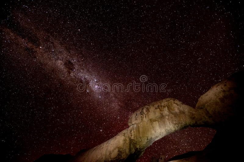 Central Band of Milky Way stock images