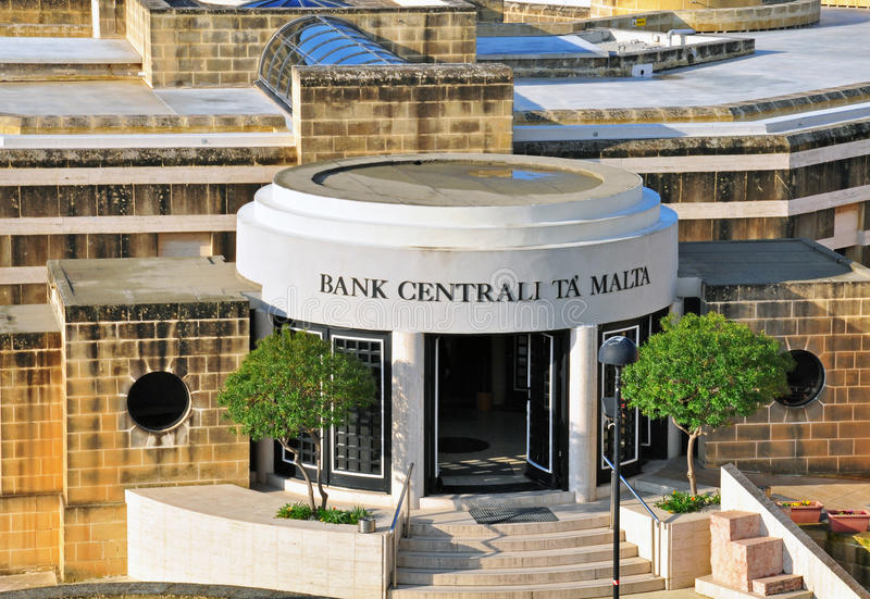 Central Bank Of Malta Editorial Photography