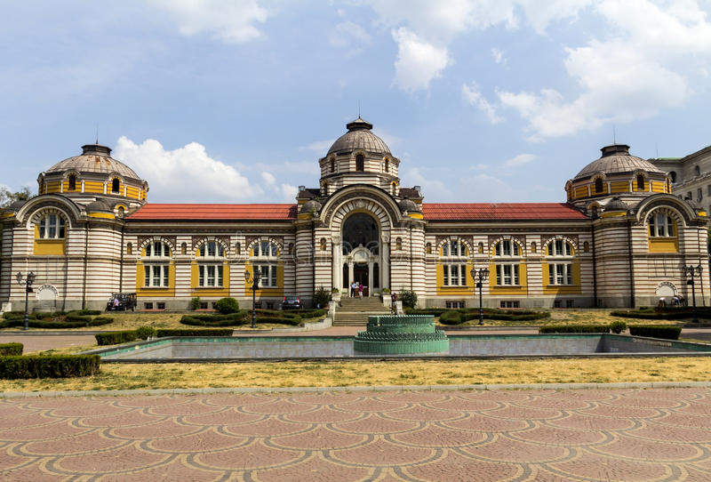 Central bath house. In Sofia, Bulgaria stock photo