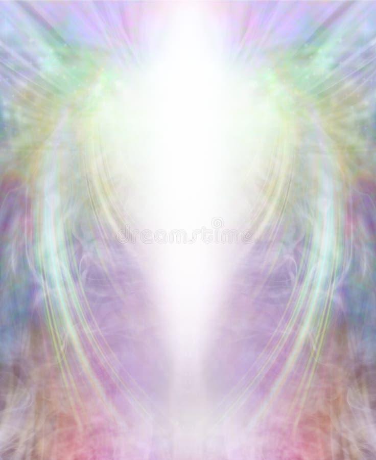 Angelic Celestial Light Being Background stock illustration
