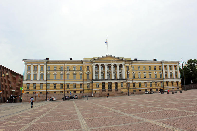 The central building of the University of Helsinki Senate square stock images