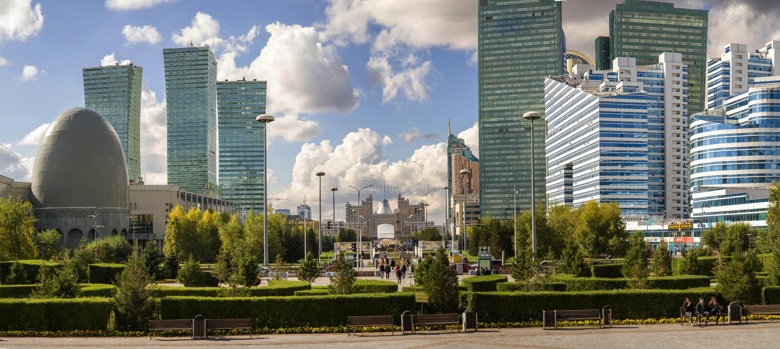 Central bulval à Astana images stock