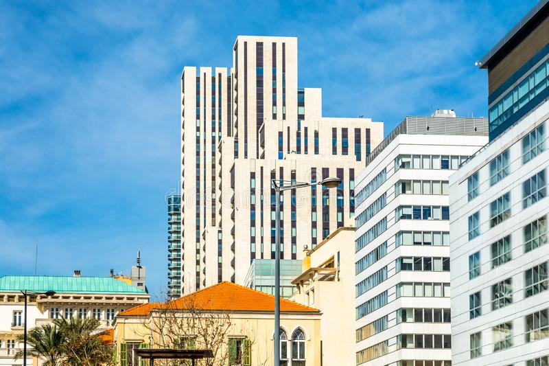 Central business district of Beirut with modern buildings, Lebanon. Cbd, arabic, architecture, area, asia, asian, beyrouth, beyrut, blue, capital, center, city royalty free stock photography