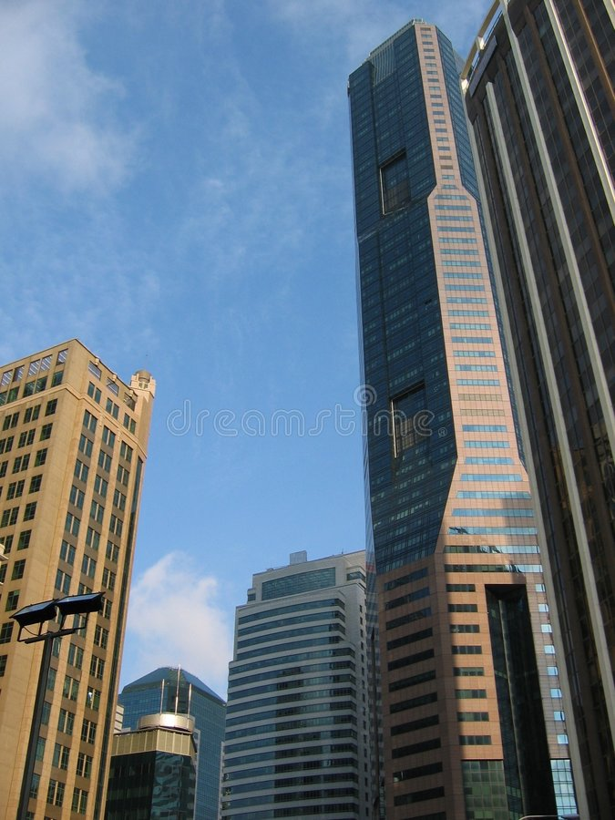 Central Business District (cbd) At Raffles Place stock photography