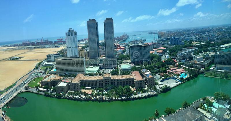 Central business district of Colombo in Sri Lanka. Fort is the central business district of Colombo in Sri Lanka. It is the financial district of Colombo and the royalty free stock image
