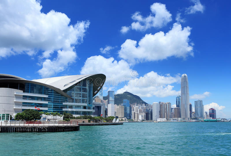Central business district in Hong Kong. At day time royalty free stock photo