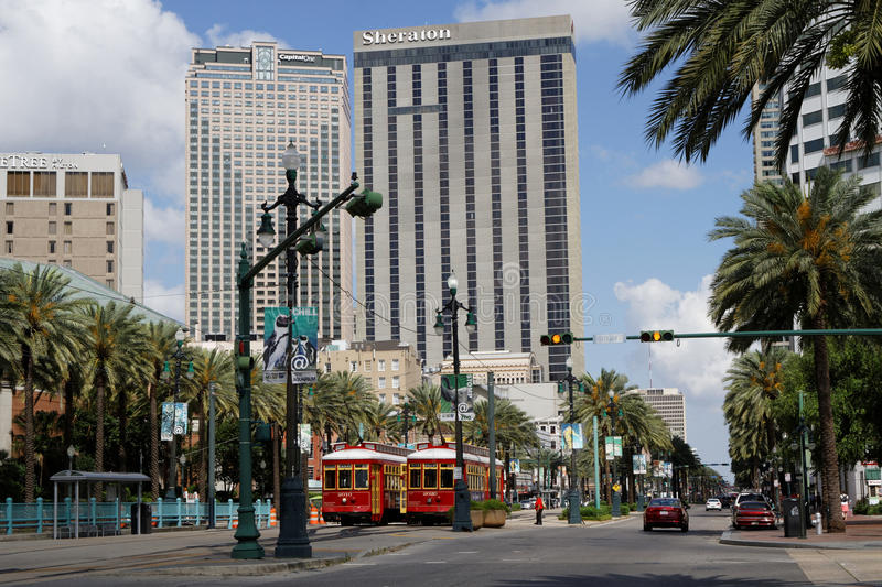 Central Business District. NEW ORLEANS, LOUISIANA, May 5, 2015 : The Central Business District is a neighborhood of the city of New Orleans, Louisiana. New royalty free stock image