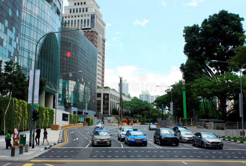The Central Business District of Singapore royalty free stock images