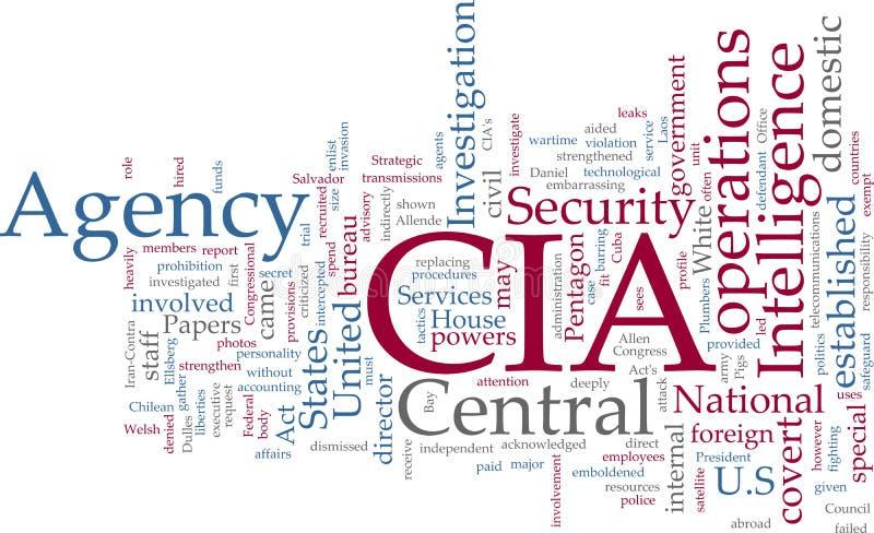 central CIA intelligens för byrå royaltyfri illustrationer