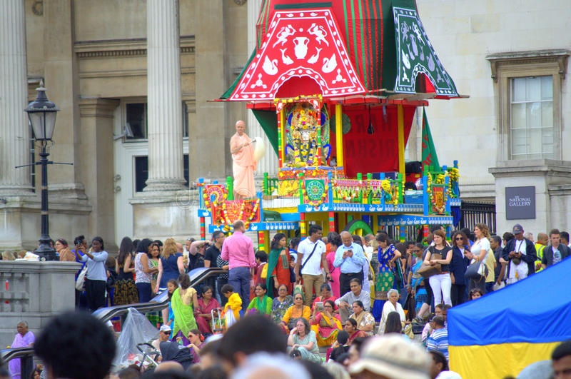 Central coloré Londres de festin de Krishna photo libre de droits