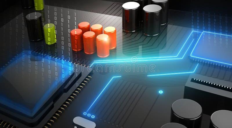 Central Computer Processor CPU concept stock illustration