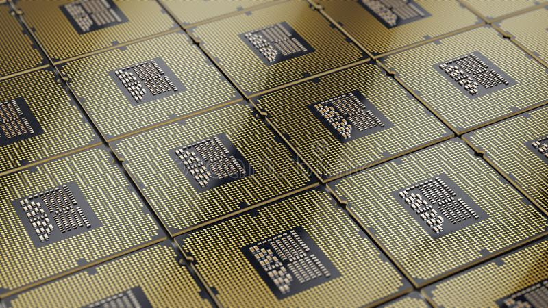 Central Computer Processors CPU background royalty free illustration