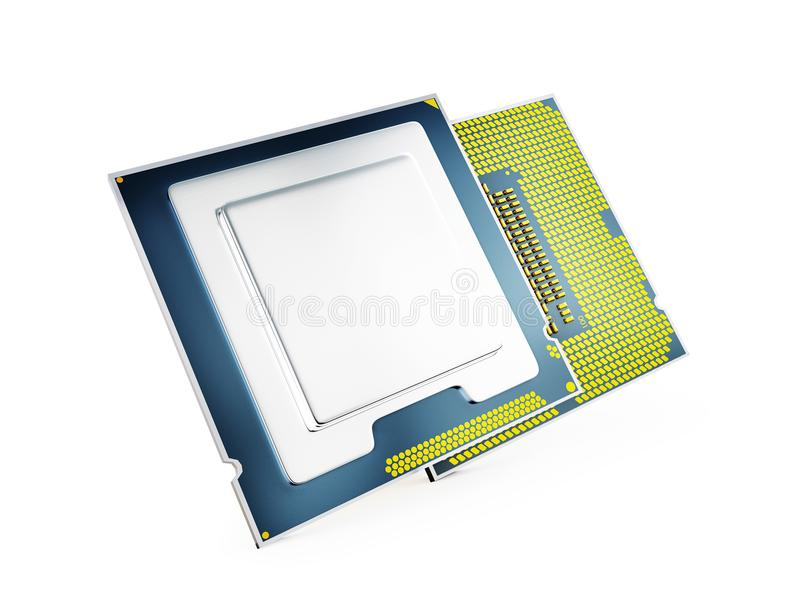 Central Computer Processors CPU - 3D rendering vector illustration