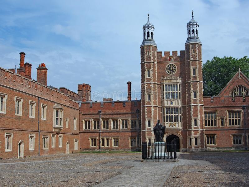 The central courtyard of Eton College stock photography