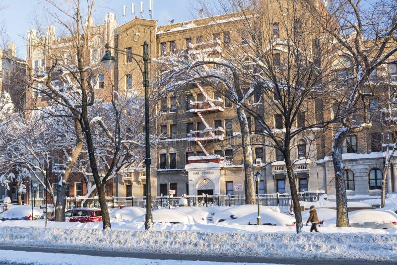 Central de parc dans la neige photo stock