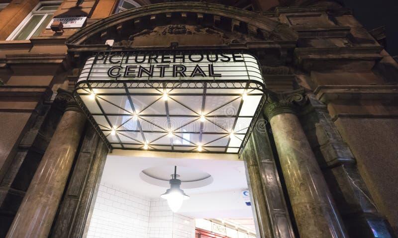 Central de Picturehouse à l'avenue Londres R-U de Shaftesbury image libre de droits