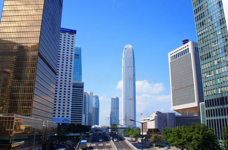 Central de route de Connaught de Hong Kong images stock