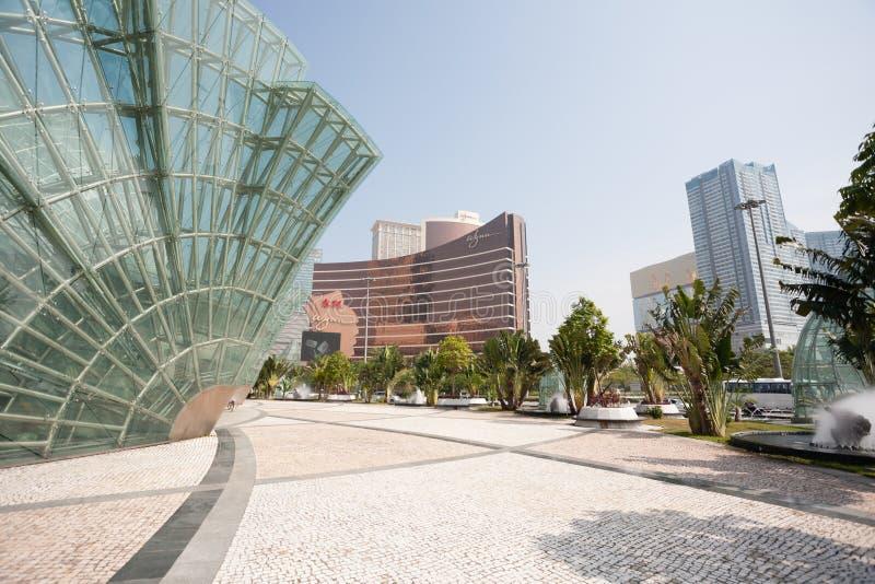Central del av moderna Macao arkivbild