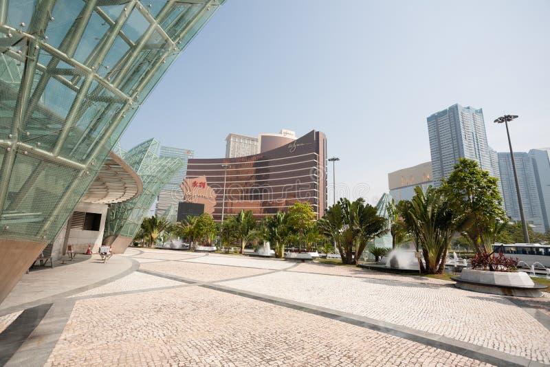 Central del av moderna Macao royaltyfria bilder