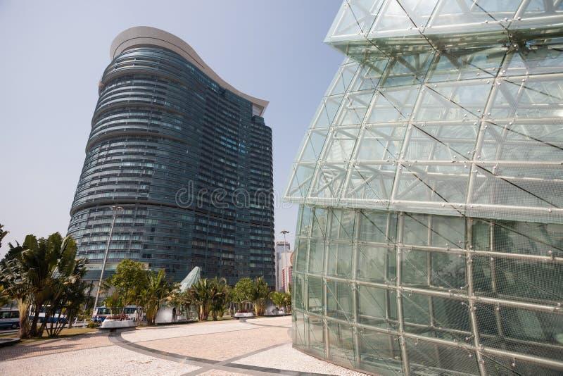 Central del av moderna Macao fotografering för bildbyråer