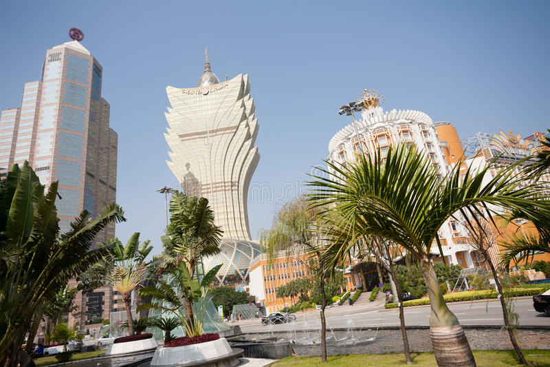 Central del av moderna Macao royaltyfri bild