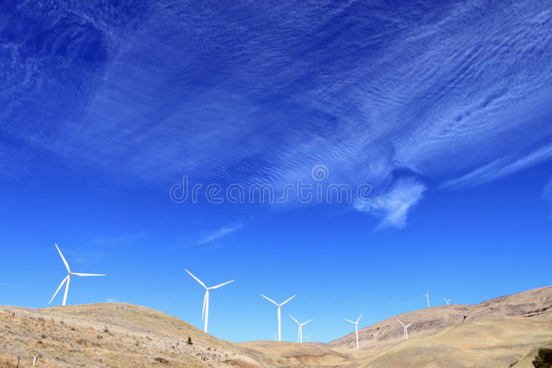 Central del molino de viento imágenes de archivo libres de regalías