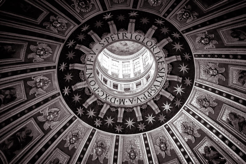 The central dome of Saint Peter's Basilica, Rome stock photo