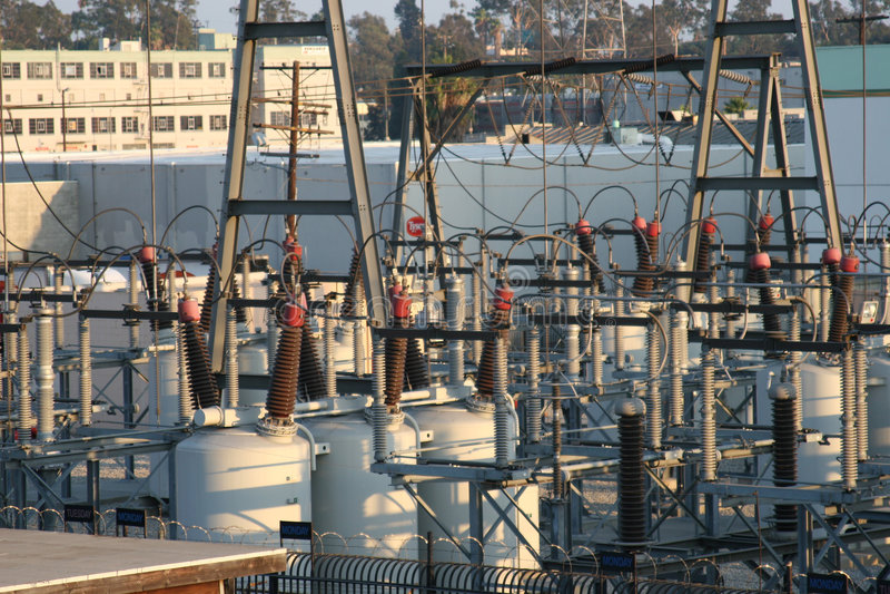 Central eléctrica. fotografía de archivo libre de regalías