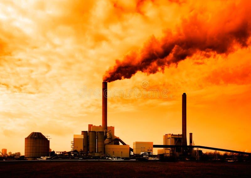 Central eléctrica foto de archivo libre de regalías