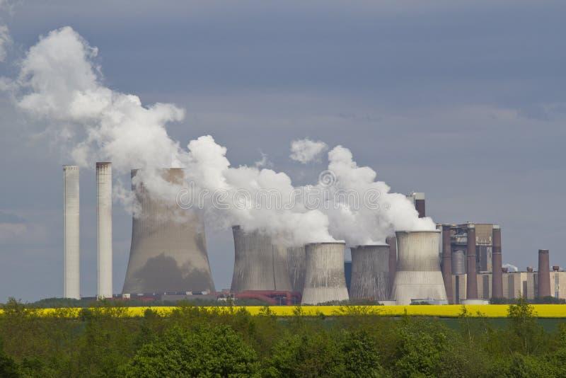 Central eléctrica imagem de stock royalty free